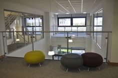 Mezzanine with Allermuir Pebbles. Spinriver Design ltd, Commercial  Interior Designers, Newquay Cornwall UK