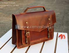 Leather Shoudler Bag with Handle Leather Business Messenger Bag