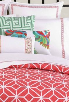 The Trina Turk bedding we liked, all the colors here.