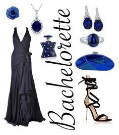 """Versace in Blue"" by amandanichols80 on Polyvore featuring Versace, Chanel, Fantasia by DeSerio, Allurez, Gianvito Rossi and Bond No. 9"