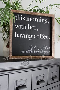 This morning with her having coffee bar rustic wood sign farmhouse wall decor kitchen decor rustic wood sign shabby chic sign wall art Rustic Wood Signs Art bar Chic coffee Decor Farmhouse Kitchen Morning Rustic Shabby Sign Wall Wood Rustic Kitchen Decor, Farmhouse Wall Decor, Rustic Decor, Kitchen Ideas, Modern Farmhouse, Farmhouse Style, Kitchen Design, Rustic Wood Signs, Wooden Signs