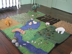 I am looking for a knitted farm mat set