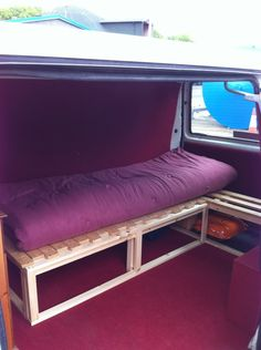 From bench to bed. Basic. If we run out of time to build something more high tech!