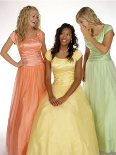 mormon prom dresses | Modest Prom Dresses « The Yellow Rose Bridal ...