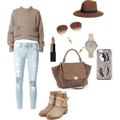 brownie by fakefairy on Polyvore featuring moda, Frame Denim, Rupert Sanderson, Olivia Burton, Jeweliq, Brooks Brothers and Eloquii