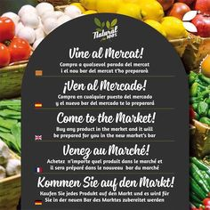 Come to the Market! Fresh food!
