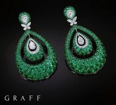Each piece within the Bombé collection incorporates a three-dimensional bombé design, offering a glimpse of beauty from every angle, as exemplified in these statement emerald and diamond Bombé earrings Doha Exhibition and Convention Centre (DECC) Emerald Earrings, Emerald Jewelry, High Jewelry, Jewelry Shop, Diamond Jewelry, Stud Earrings, Diy Earrings, Graff Jewelry, Jewellery Box