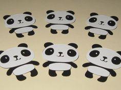 Panda Bear Die Cuts  Set of 6 by thepapercubby on Etsy, $3.00