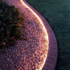 Use rope lights along the yard border.