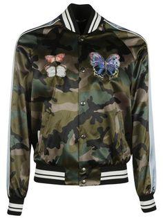 VALENTINO Valentino Camouflage Bomber Jacket. #valentino #cloth #coats-jackets