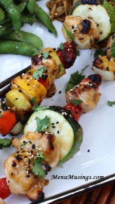 Toasted Sesame and Ginger Chicken Kabobs