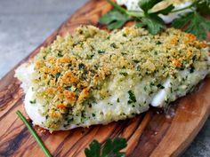 Dit recept geeft echt een heerlijk korstje aan je vis. Het is een soort van luxe visstick! A Food, Food And Drink, Salmon Burgers, Avocado Toast, Quiche, Fish, Cooking, Breakfast, Healthy