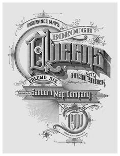 The Typography of Sanborn New York CIty Maps. Title pages from maps issued between 1885 and 1917. Borough of Queens. City of New York. Atlas 142a, Vol. 6, 1911.