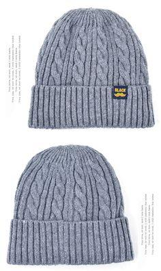 81b10e3bac 5.62 49% de réduction|Haute qualité gorro hiver chapeaux pour hommes tricot  laine Beanie femmes casquette décontractée hommes bonnets Plus velours os  ...