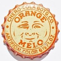 Orange Melo, Orange Melo-Cola Company, Columbus, Ohio USA | cap used 1923-1925 | One sold on eBay 7/2015 for $184.50.