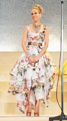 Vivienne Westwood Floral Gown on Sarah Jessica Parker