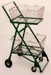 The shopping cart invented by Oklahoman Sylvan Goldman. Introduced 6/4/1937 at Humpty Dumpty Food Mkt. in Oklahoma City. The rest is history.