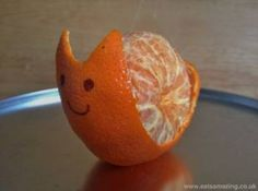 "CLEMENTINE SNAIL: A really fun idea for you children! Very easy and effective from the ""lunchbox full of snails"" post on eastamazing."