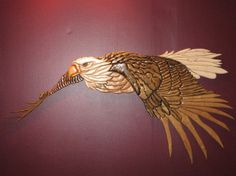 Flying eagle.  Creative Woodworking pattern design