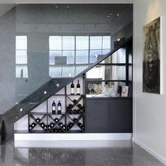 Bar / wine cabinet under stairs