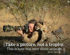 This is how real men shoot animals, not a trophy.