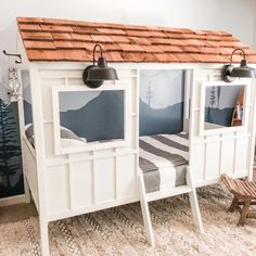35 Amazingly Pretty Shabby Chic Bedroom Design and Decor Ideas - The Trending House Little Boy Beds, Twin Beds For Boys, House Beds For Kids, Kid Beds, Toddler Beds For Boys, Diy Beds For Kids, Cool Beds For Boys, Toddler Boy Room Ideas, Toddler Rooms