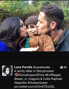 Lana, Raphael, and Sean being cute on set!!