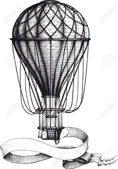 30674806-Vintage-hot-air-balloon-with-banner-Stock-Vector.jpg (907×1300)