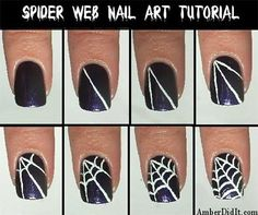 Easy Spiderweb Nail Art Tutorials For Beginners & Learners 2014 | Fabulous Nail Art Designs