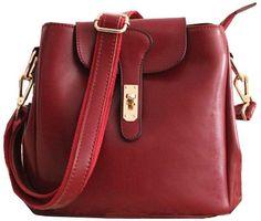 Real Leather Barrel-type Shoulder Bag