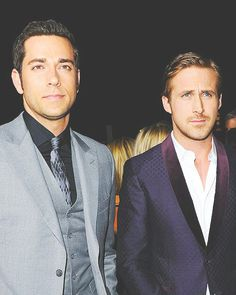Zachary Levi & Ryan Gosling: pretty much the prettiest picture ever. Hello there Ryan!!