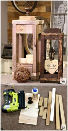 DIY Wood Lanterns