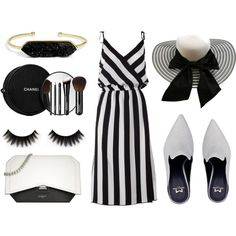 Black white mules by texaspinkfox on Polyvore featuring Marc Jacobs, Givenchy, BaubleBar and Chanel