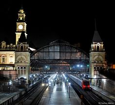 Estação da Luz by Night São Paulo - Brazil © Carlos Alkmin - www.CarlosAlkmin.com