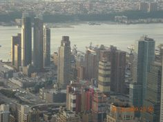 The view from the Empire State in NY ;