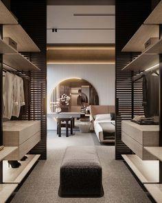 Walk In Closet Design, Bedroom Closet Design, Home Room Design, Closet Designs, Home Interior Design, Interior Architecture, Bedroom Decor, Casa Magna, Dressing Room Design