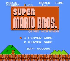 Mario - used to play this with my son..I think I liked it better than he did LOL. I was SO hooked!
