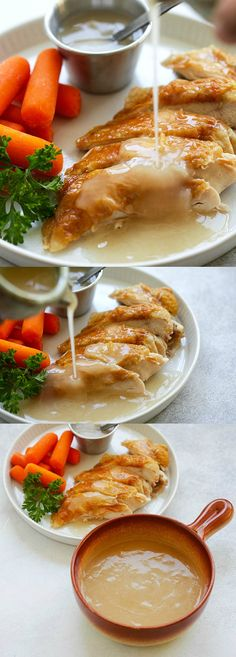 Easy Gravy – quick homemade gravy with only 4 ingredients. This gravy is great for turkey, chicken, pork, steak and potatoes. So good | rasamalaysia.com