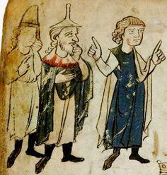 Wolfram <von Eschenbach>: Willehalm (Fragment) Sachsen (Umkreis Quedlinburg/Halberstadt), um 1270 - 1275 Cgm 193,III Folio 1v