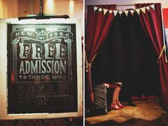 Love this carnival themed photo booth its has a total Coney Island feel!