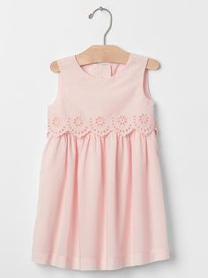 Eyelet two-tier dress Product Image