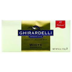 Ghirardelli Bar Baking - Classic White Chocolate - 4 Oz - Case Of 12
