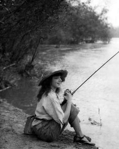 Colleen Moore trout fishing...