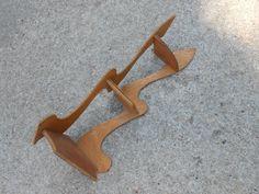 Whimsical Corner Shelf Vintage Handmade Wooden