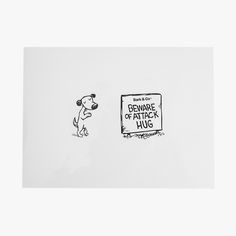 Vinyl Laptop Sticker Beware of Attack Hug!