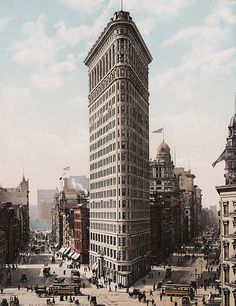 The Stories Behind 17 Skyscrapers & High-Rise Buildings That Changed Architecture,Flatiron Building / Daniel Burnham. ImageBy Unknown Beinecke Rare Book & Manuscript Library, Yale University Public Domain, https-//commons.wikimedia.org/w/index.php?curid=8097208