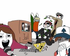 I love this draw the squad pic XD by Gisii06 on DeviantArt