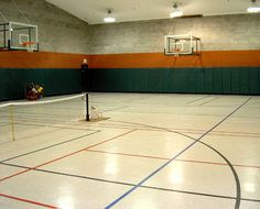 Metal building with a basketball court stuff i plan on for Indoor basketball court design