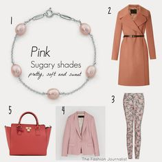 Colour inspiration: pink Casual Chic, Color Inspiration, Shades, Pretty, Pink, Colour, Shopping, Image, Fashion