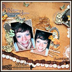 Sharing a layout created with Kaisercrafts 75 Cents collection